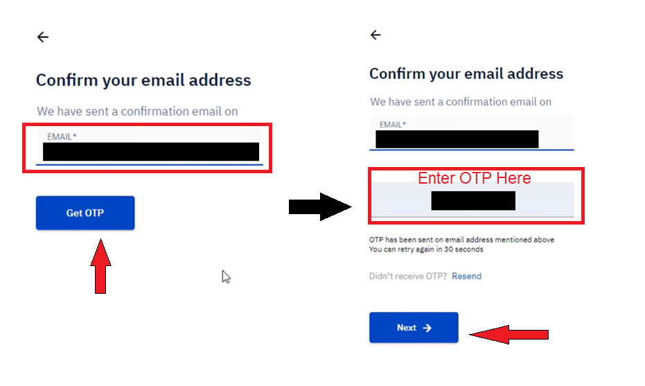 confirm email address on upstox